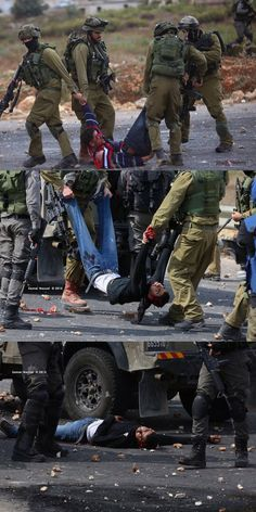 Beit Eel (Israeli military camp in Ramallah) arresting the wounded