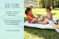 $128 Keiki Futons... a perfect play and nap mat for your little loves indoors or out.  They roll up and have a handle for easy transporting AND they're on sale 33%off today only TUES 6/25!  Order before midnight (Hawai'i Standard time)