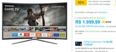 "Smart TV LED 40"" Samsung 40k6500 Full HD Curva 3 HDMI 2 USB << R$ 179999 >>"