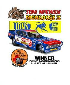 Final race at Lions Drag Strip...Tom McKewen won the funny car race