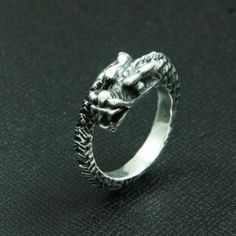 CURLING DRAGON 925 STERLING SILVER
