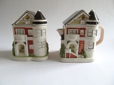 Otagiri Victorian House Cream and Sugar Bowl by FromSomeonesAttic