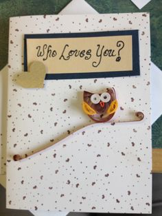 Owl quilled card