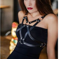 Cheap belt f, Buy Quality belt fashion directly from China f belt Suppliers: Harness gothic Sexy Fashion Punk PU leather Harness Star Pentagram Body Bondage Pentacle Star Waist Straps Belts suspenders