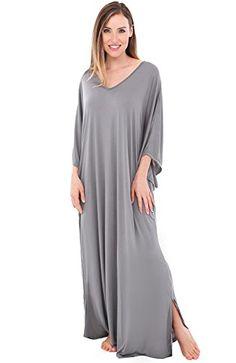 8cbc324e27 Alexander Del Rossa Womens Modal Knit Nightgown