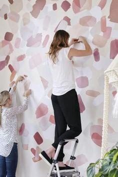 The Blush Circular Abstract - Modern Bedroom Wall, Bedroom Decor, Girls Bedroom, Kid Bedrooms, Bedroom Ideas, Master Bedroom, Modern Bedroom, Bathroom Wall Decals, Modern Wall Decals