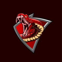 Konsep Logo Logik Permainan Ular Merah