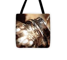 """Silver Antique Glass Ornament Tote Bag (13"""" x 13"""") by Pamela Moran.  The tote bag is machine washable, available in three different sizes, and includes a black strap for easy carrying on your shoulder.  All totes are available for worldwide shipping and include a money-back guarantee."""