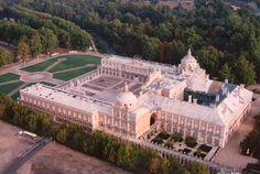 ESPAÑA: Palacio Real de Aranjuez a vista de pájaro.