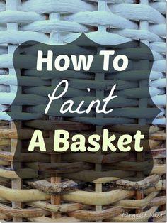chalk paint on wicker...via Elegant Nest