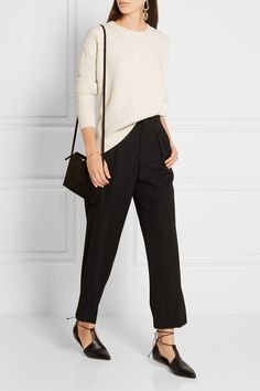 Vince | Honeycomb-knit wool and yak-blend sweater | NET-A-PORTER.COM