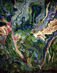 Deanne Fitzpatrick Studio - hooked rug detail. So incredible