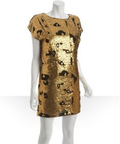 Chloe gold dress