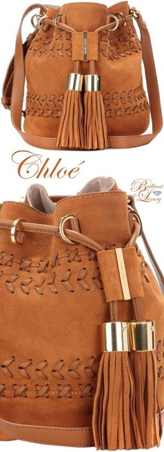 Brilliant Luxury ♦️ Chloé Vicki Small Suede And Leather Bucket Bag