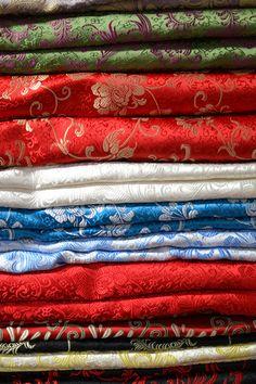 Fabric Inspiration 2: brocade fabric, chinese fabric