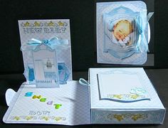 Card Gallery - Baby Boy 3D Pop Up Gift Box Card Kit