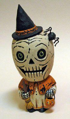 greg guedel halloween folk artist