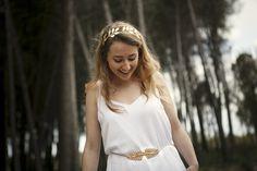 Tocados Diadema Victoria - accesorios para el pelo - bodas - hecho a mano en DaWanda.es