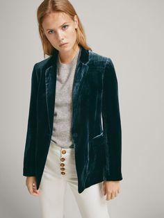 Americanas - COLECCIÓN - MUJER Massimo Dutti México Velvet Blazer, Bomber Jacket, List Ny, Jackets, Shopping, Women, Closet, Fashion, Velvet Jacket