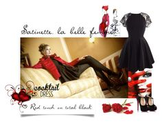 """""""Res touch on total black"""" by trendcrossing on Polyvore featuring moda e Christian Louboutin"""