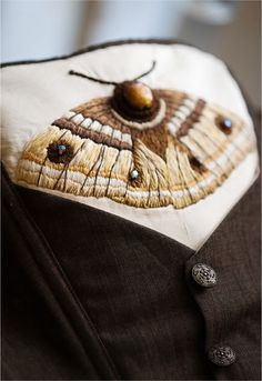 moth by Antique Design. This reminds me of a wallpaper by Bradbury and Bradbury with a beautiful moth. Lovely