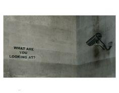 What are you looking at? #Banksy #graffiti #poster #print #Tshirt #mug #magnet #bag #mousemat #postcard #greetingscard #tea towel #iPadcover and #phonesock www.art247.com Banksy Prints, Banksy Graffiti, You Look, Greeting Cards, Mugs, Towel, T Shirt, Poster, Supreme T Shirt