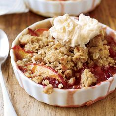Nectarine-and-Plum Crisp with Oatmeal Streusel Recipe - John Currence | Food & Wine