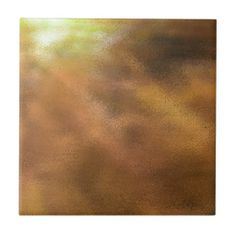 Golden Explosion Of Color Abstract Ceramic Tile