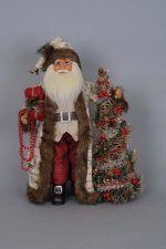 Karen Didion Light-Up Woodland Elegance Santa Figurine Christmas Tree On Table, Christmas Gift Bags, Old World Christmas, Christmas Time, Christmas Ideas, Xmas, Cowboy Christmas, Santa Christmas, Christmas Lights