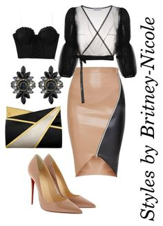 """""""2"""" by britstyles-nicole on Polyvore featuring Molly Goddard, Christian Louboutin and Jill Haber"""