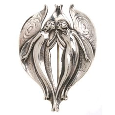 Gorham Sterling Art Nouveau  Fairy  Brooch | From a unique collection of vintage brooches at http://www.1stdibs.com/jewelry/brooches/brooches/