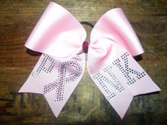 Super cute! Breast cancer awareness cheer bow!! $12.50