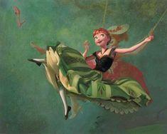 Frozen Photo: Disney Fine Art - Art Imitates Art by Jim Salvati Anna Disney, Disney Princess Art, Disney Frozen, Walt Disney, Princess Anna, Disney Princesses, Frozen Photos, Frozen Art, Anna Frozen