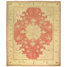 Antique Turkish Oushak Rug | From a unique collection of antique and modern turkish rugs at https://www.1stdibs.com/furniture/rugs-carpets/turkish-rugs/