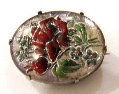 Edwardian 1920s VICTORIAN Red Florals REVERSE by CovetedCastoffs, $43.00