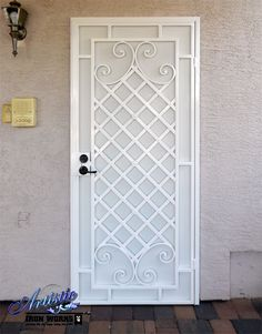 Wrought Iron Security Screen Door - Designed by James Hiltunen