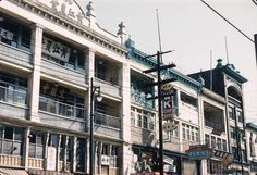 North side of East Pender Street's 100 Block, including the Chinese School building and Lee Building, (Photo via Vancouver Archives) Vancouver Chinatown, School Building, Beautiful Homes, The 100, Buildings, Photograph, Chinese, Canada, Ocean