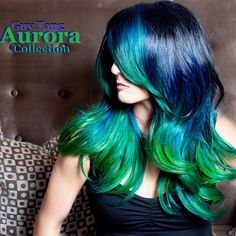 New Aurora collection by Guy Tang ! Breaking the stereotypes of green hair and ombré has never been so sexy. Hair and photography by Guy Tang , model Katie