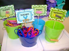 Peace, Love, and First Grade: labels for sorting supplies
