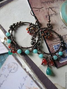 Hey, I found this really awesome Etsy listing at http://www.etsy.com/listing/154321053/wire-wrapped-copper-hoops-cluster