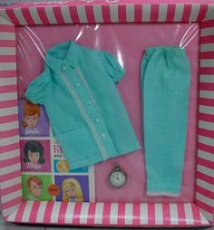 1964 Barbie & Midge -  Pajama Party (blue) #1601