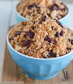 Caribbean Rice and Beans - Immaculate Bites