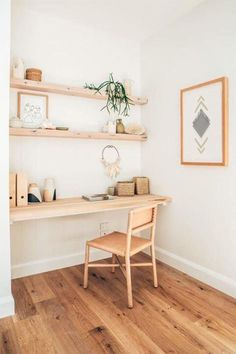 38 Ideas Home Office Nook Open Shelving For 2019 Office Nook, Home Office Space, Home Office Design, Home Office Furniture, Home Office Decor, Home Decor, Small Office, Office Designs, Office Ideas