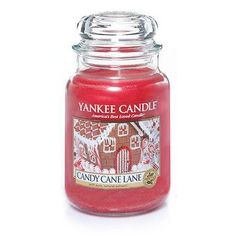 Candy Cane Lane : Large Jar Candles : Yankee Candle : A favorite holiday place where delicious dreams are made, with tingly peppermint, sweet cookies and creamy vanilla icing.