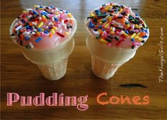 Pudding Cones = Simple, Sweet Treat! ~ from TheFrugalGirls.com #dessert #recipes