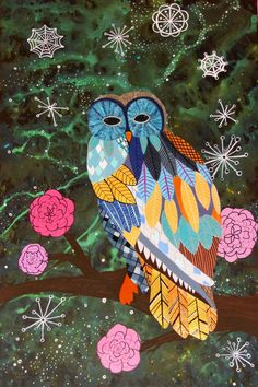 'Space Owl' by Janna Zachary