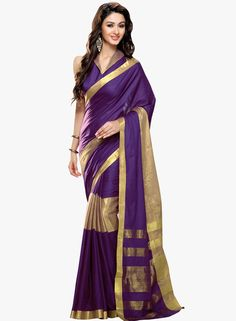 Shonaya Purple Solid Saree