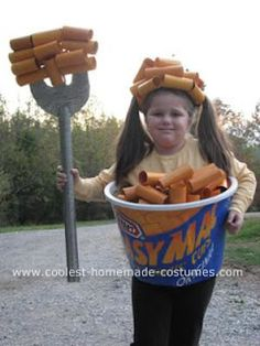 25 Last-Minute Halloween Costume Ideas. I don't think if I had a chubby daughter I would dress her up as any kind of food though. That's just mean!