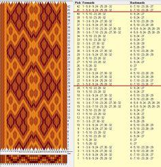 32 tarjetas, 3 colores, repite cada 20 movimientos // sed_786 diseñado en GTT༺❁