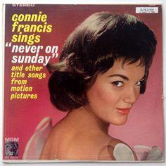 Connie Francis - Sings Never On Sunday LP Vinyl Record Album MGM Records - ST-90592 Pop Vocal 1961 Original Pressing